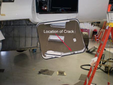 Falcon 50 Baggage Door Inspection