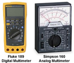 digital vs analog multimeters