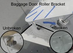 Falcon 2000 Baggage Door Roller Bracket Duncan Aviation