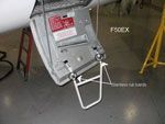 Falcon 50EX equipment bay ladder rub bands